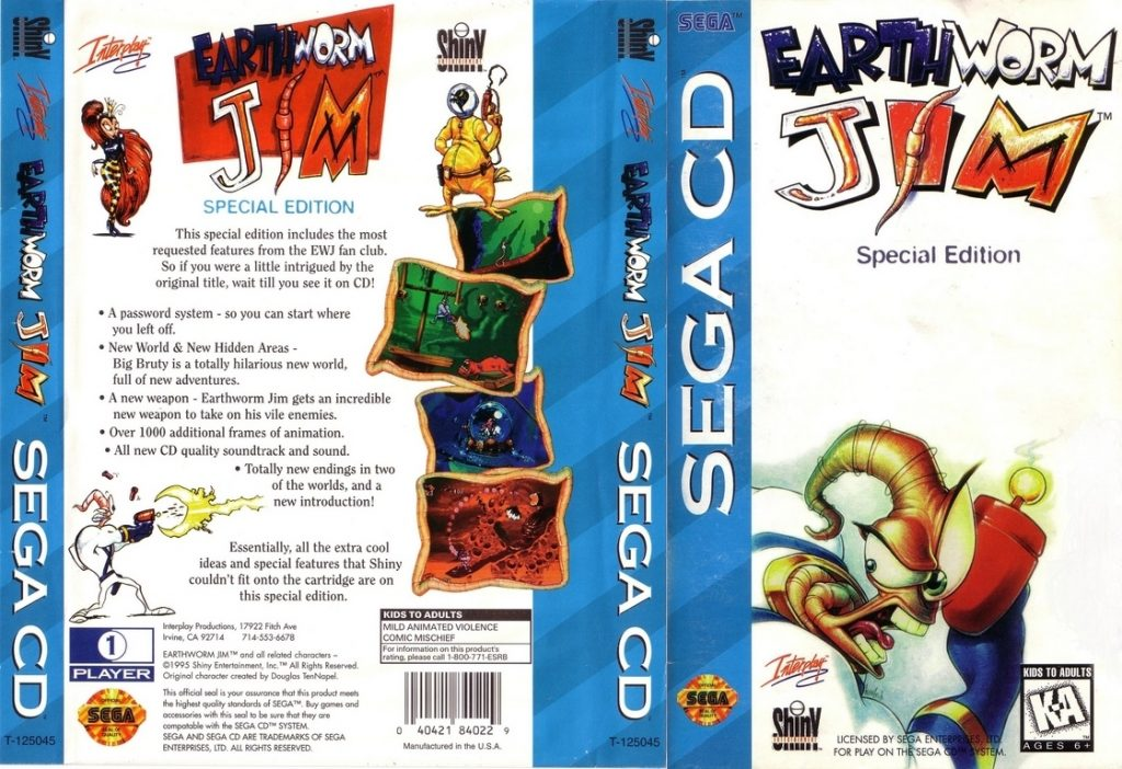 Earthworm Jim Special Edition - Best SEGA CD ROMs of All Time