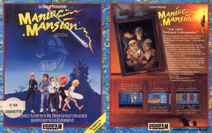 Maniac Mansion - Best Commodore 64 Games that Became Bestsellers