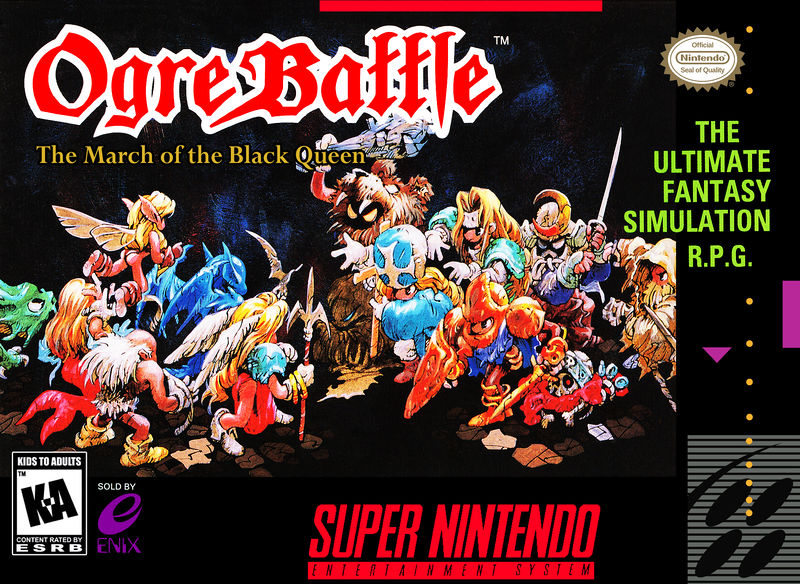 Ogre Battle The March of the Black Queen - Best SNES RPGs
