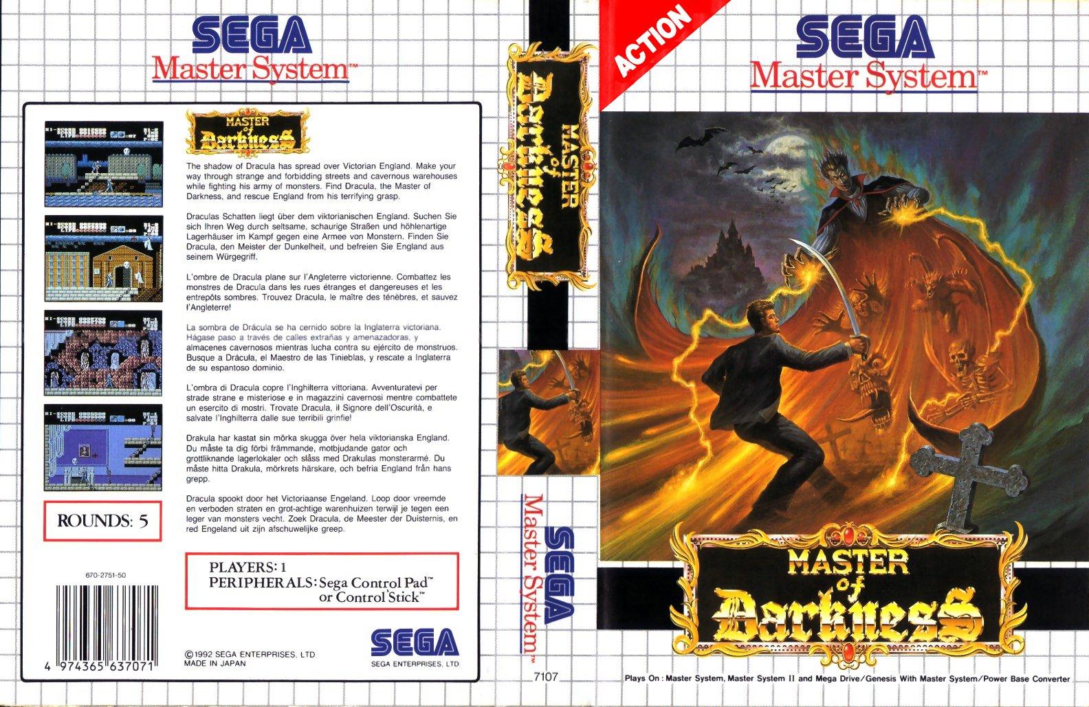 Vampire Master of Darkness - Best SEGA Master System Games