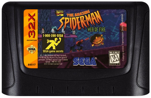 Best 32x Games Review - The Amazing Spider-Man Web of Fire