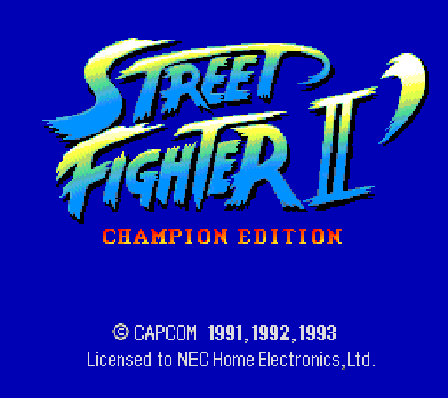 Best TurboGrafx-16 Games - Street Fighter II Champion Edition